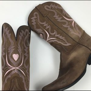 Dingo Brown Leather Western Cowboy Boots 7 M
